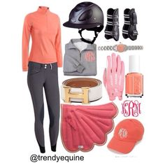 Love the orange shirt and grey pants. All of the accessories and such are not necessary.