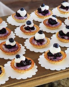 Blueberry cheesecake tartlets for wedding
