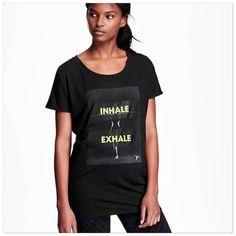 Inhale Exhale yoga top Inhale exhale yoga top. Size M (fits L/XL). Runs big. Brand new with tags Tops