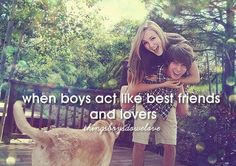 When boys act like best friends and lovers!