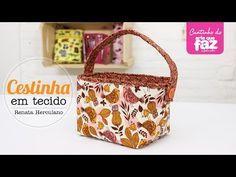 Neste vídeo a artesã Renata Herculano ensina como confeccionar uma linda cesta multi uso para lavabo.