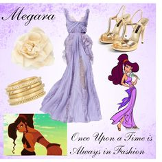 Disney Style: Megara, created by trulygirlygirl Disney Prom Dresses, Disney Princess Outfits, Disney Dress Up, Disney Themed Outfits, Disney Princesses, Moda Disney, Disney Mode, Disney Bound, Disney Pixar