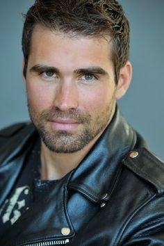 Biker Leather, Leather Men, Leather Jackets, Black Leather, Face Men, Male Face, Beautiful Men Faces, Gorgeous Men, Moustache