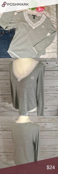 American Rag Juniors Dip Dyed Henley Top Cameo Rose Size Large