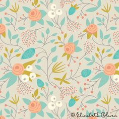 Floral pattern by Elizabeth Olwen via Print and Pattern
