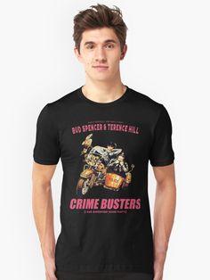 Terence Hill Bud Spencer T-Shirt Herren schwarz Legends and Heroes
