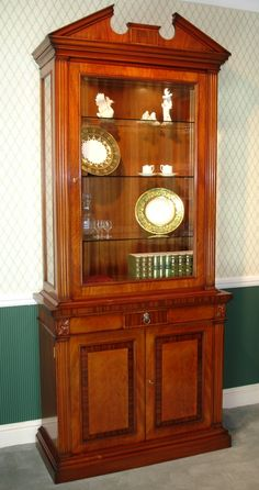 Mahogany China Cabinet This Handy Niche Style Will Fit Into A Lot Of Es That Would Be To Small For Most Traditional Display
