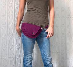 Sac en coton prune lumineux de ceinture : sac banane, sac de hanche, sac de voyage, mains libre sac sac promenade chien, Festival, cadeau pour elle, sac élégant