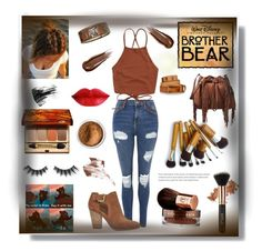 """""""Brother bear themed"""" by switchkid ❤ liked on Polyvore featuring Topshop, Clarins, Violet Voss, Marc Jacobs, MICHAEL Michael Kors, Diane Von Furstenberg, Bare Escentuals, Hourglass Cosmetics, Vita Liberata and Dsquared2"""