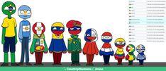 ~『Coun t ryHumans Lat I n o s』~ - 🇧🇷🇦🇷🇵🇪🇨🇴🇻🇪🇨🇱🇵🇾🇪🇨🇬🇾🇺🇾 - Wattpad Mundo Comic, Anime Music, Country Art, Hetalia, Kawaii Anime, Pikachu, Fan Art, Wattpad, Fictional Characters