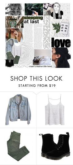 """""""☾☼what doesn't kill you makes you wish you were dead"""" by unsaid-things ❤ liked on Polyvore featuring GET LOST, American Apparel, MANGO, Citizens of Humanity and Dr. Martens"""