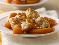 Slow Cooker Peach Cobbler recipe from Betty Crocker  *** Read the reviews before making as the suggestions are helpful!