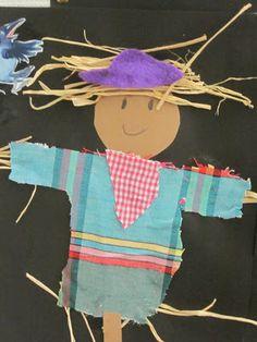 Kaarisillan kuvataide, linnunpelätin Autumn Crafts, Mixed Media, Collage, Artwork, Kids, Fall, Young Children, Fall Crafts, Collages