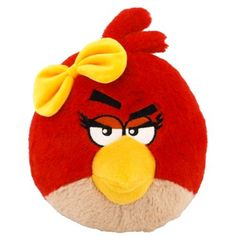 Angry Birds Plush 5-Inch Girl Red Bird with Sound ** Details can be found by clicking on the image. (This is an affiliate link) #StuffedAnimalsPlushToys