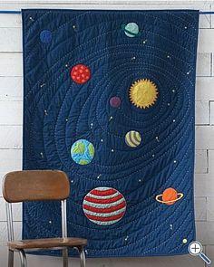 solar system quilt :