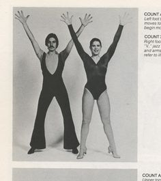 The official guide to Jazz dancing. Arms raise into 'V', jazz hands