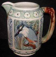 Weller Pottery Kingfisher Pitcher