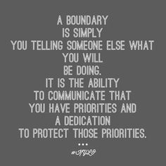 What is a boundary?