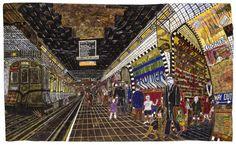 Tube Station Genk, Willem van  Tube Station, 1970  techniques diverses et collage  75 x 124 cm  © crédit photographique  Collection de l'Art Brut, Lausanne Auteur Genk, Willem van (1927-2005), Pays-Bas