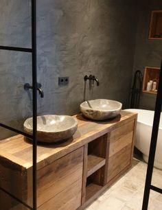 Bathroom Organisation, Tiny House On Wheels, Double Vanity, Sink, Villa, House Design, Flooring, Interior Design, Frans