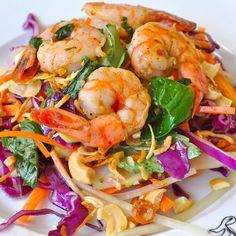 Thai Shrimp Salad #keto #ketodiet #ketorecipes #ketodinner #lchf #pescatarian #thaifood #ketogenicdiet #ketosis #ketones