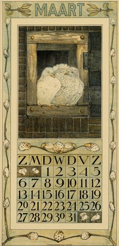 Theodoor van Hoytema, calendar 1910 March