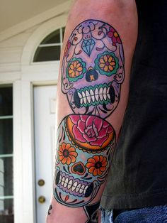 Traditional Sugar Skull Tattoo