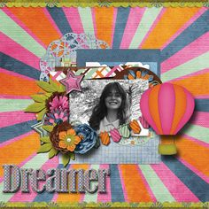 A picture of my daughter.   Kit used:  Day Dreams 'n Designs' Up, Up, and Away available at http://www.scraps-n-pieces.com/store/index.php?main_page=product_info&cPath=66_235&products_id=8780