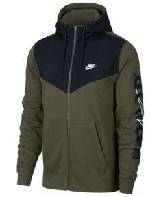 Men s Sportswear Just Do It Fleece Zip Hoodie (Olive Canvas) 35e2ce0c3