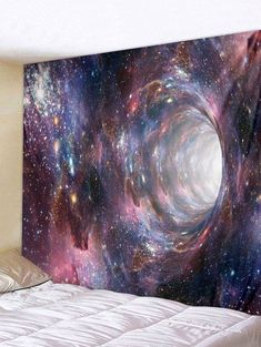 Style: Fashion Material: Polyester Featur - Home decor - Galaxy Hole Print Tapestry Wall Art. Trippy Tapestry, Tapestry Nature, Tapestry Bedroom, Mandala Tapestry, Tapestry Crochet, Tapestry Weaving, Mandala Crochet, Tapestry Beach, Inspire Me Home Decor