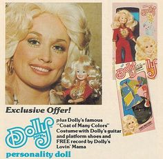 DOLLY Parton Doll Advertisement - 1978  _____________________________ Reposted by Dr. Veronica Lee, DNP (Depew/Buffalo, NY, US)