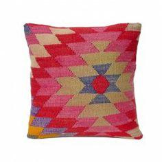 beautiful kilim cushion for a modern bohemian chic look. beautiful colors.