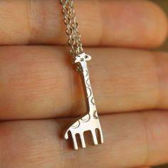 Cute Pet Giraffe Fashion Necklace! When cutie meets cutie :)…