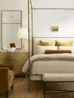 Coco Republic...love the airy feel of this poster bed...
