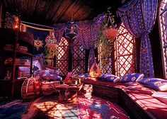 A daily dose of Dragon Age Fantasy Places, Fantasy World, Future House, My House, Casa Anime, Le Havre, Arabian Nights, Aesthetic Rooms, Fantasy Landscape