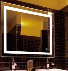 Wall mounted lighted vanity mirror led mam84836 commercial - Commercial grade bathroom exhaust fans ...