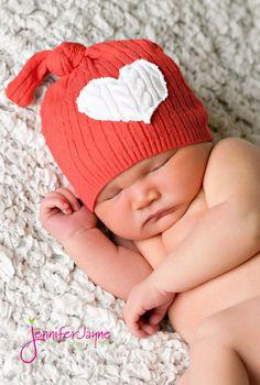 Valentines upcycled hat-newborn size. $15.00, via Etsy.