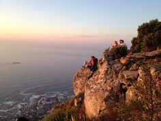 People waiting for sunset on Lion's Head