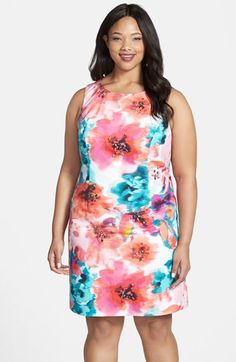 Eliza J Floral Print Sheath Dress (Plus Size) available at #Nordstrom