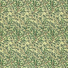 Buy Morris & Co Willow Bough PVC Tablecloth Fabric, Green Online at johnlewis.com