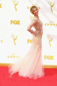 Actress Caitlin Gerard attends the 67th Annual Primetime Emmy Awards at Microsoft Theater on September 20, 2015 in Los Angeles, California.