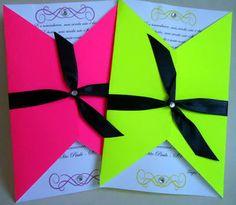 Resultado de imagen para convites coloridos neon