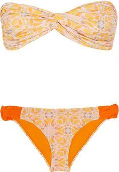 Matthew Williamson Mosiac-print bandeau bikini