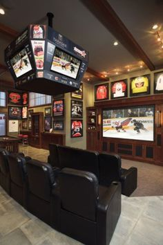 Man cave idea, holy cow! I think every husband would die if they had this!!