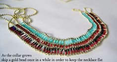 Tribal egyptian necklace DIY