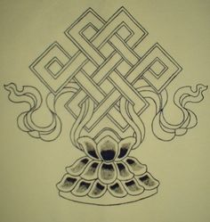 Endless (eternal) knot...Buddhism - This will be a tattoo!! <3