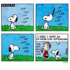 Snoopy and ice cream
