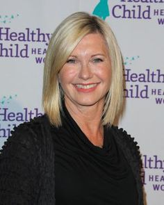 Wondering what haircuts and color looks best on women over age 50? I share the best bobs, shags, shoulder-length cuts and more in this gallery.: Olivia Newton John's Long Bob