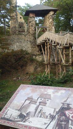 Zlenice (Hláska)- reconstruction under ruins for imagine. (distr. Benešov, central Bohemia)