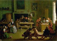 Michel-Ange Houasse - Interior of a Schoolroom